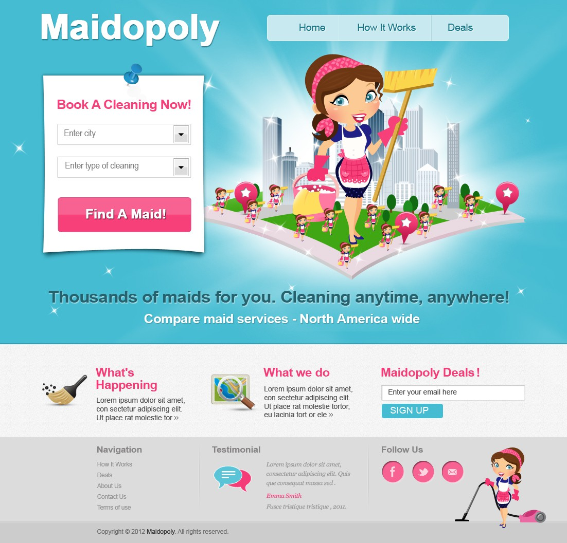 Awesome Web 2.0 Design for MAIDOPOLY!