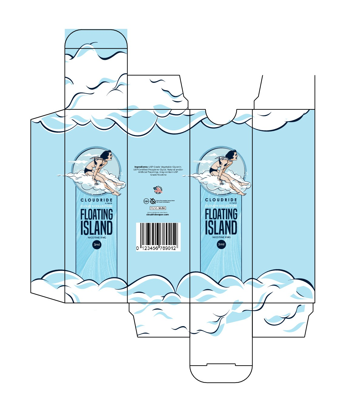 A beautiful box and bottle label for our e-liquid brand