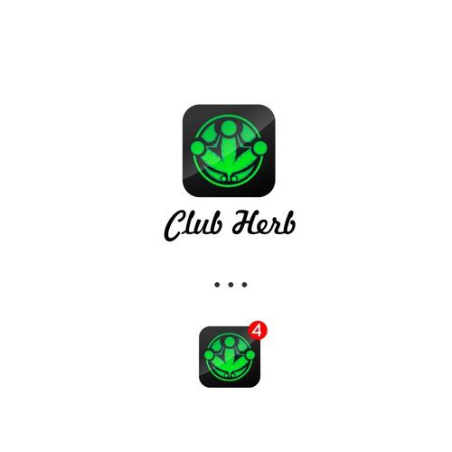club herb logo design