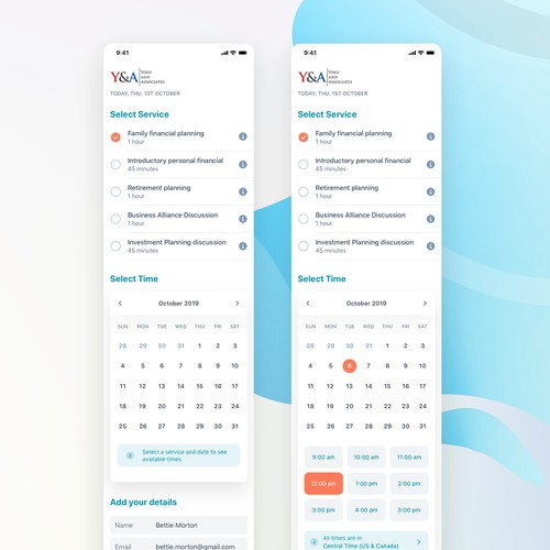 Booking Accounting Service - Mobile View