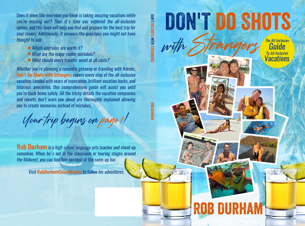 """Book Cover for """"Don't Do Shots with Strangers"""""""