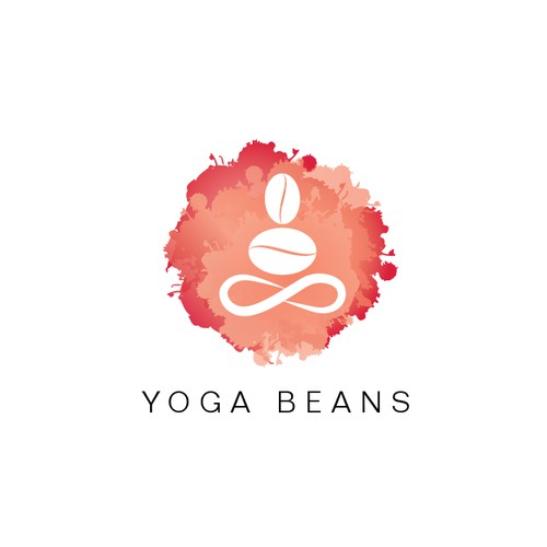 Logo for a store who aim to sell yoga + coffee related products