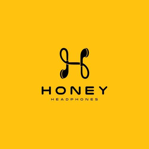 logo concept for Honey Headphones