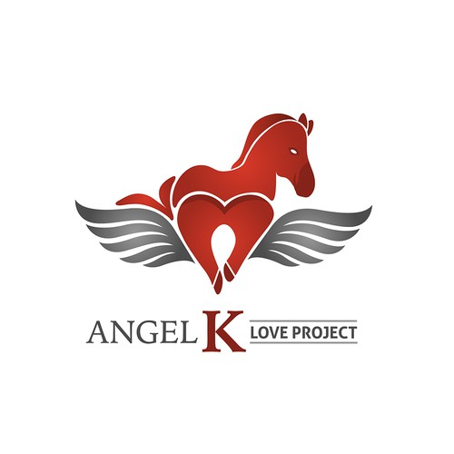Angel K Love Project Logo Design