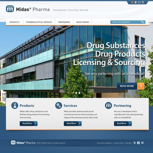 Create the next website design for Midas Pharma