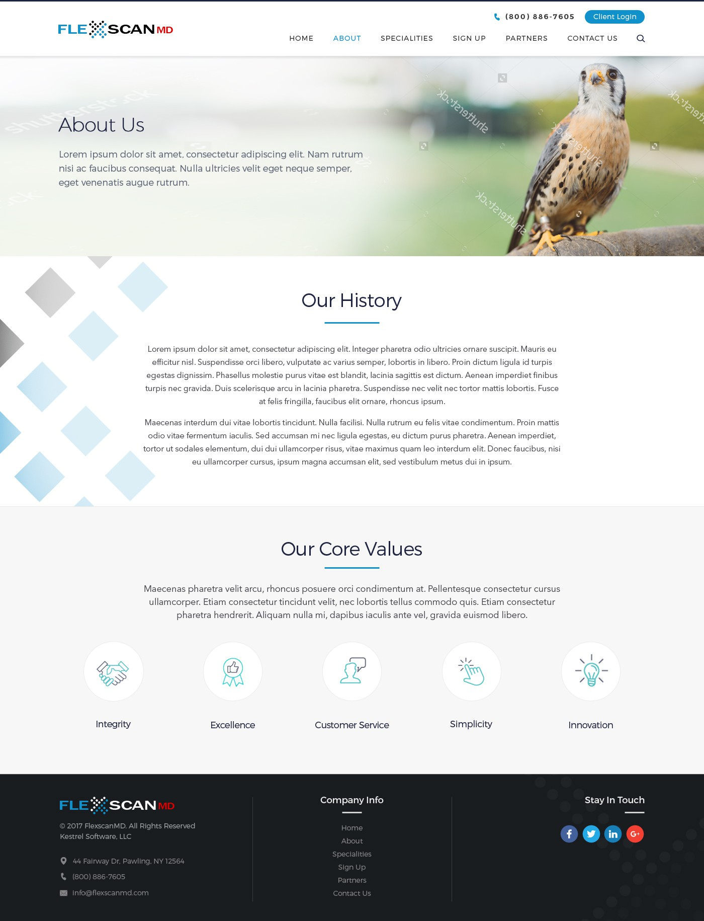 FlexscanMD needs a fresh and captivating redesign of the website.
