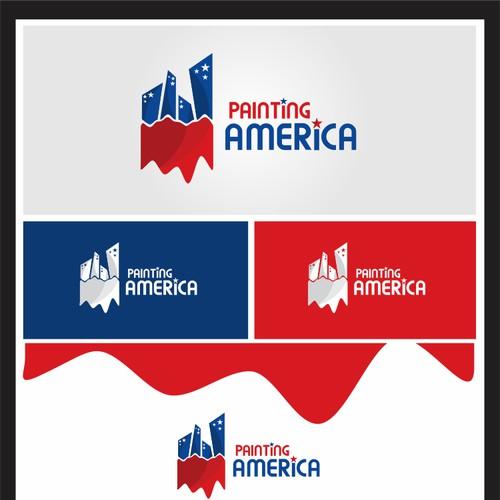 logo for Painting America llc.