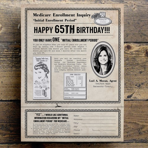 Create a mailer for people turning 65 years old