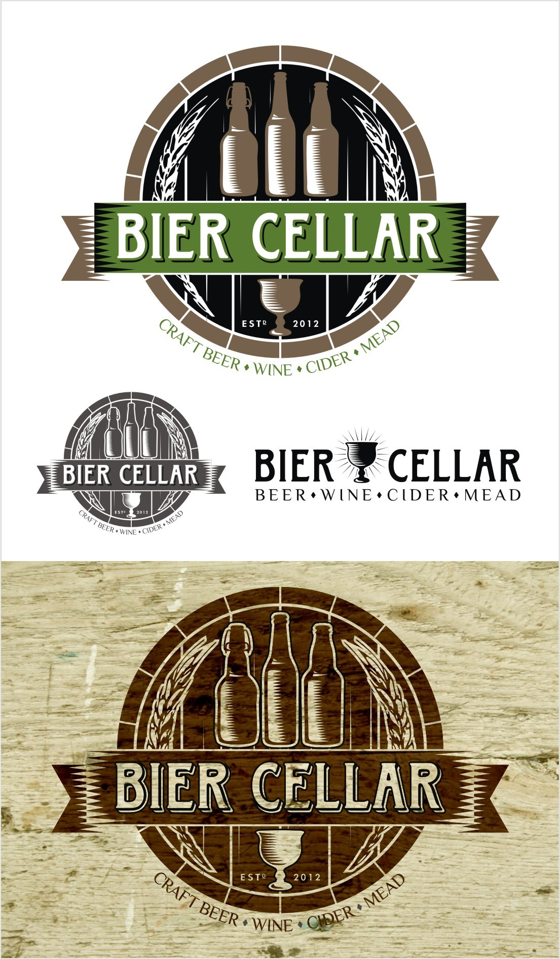 Logo Needed for Artisinal Beer and Wine Store (Bier Cellar)