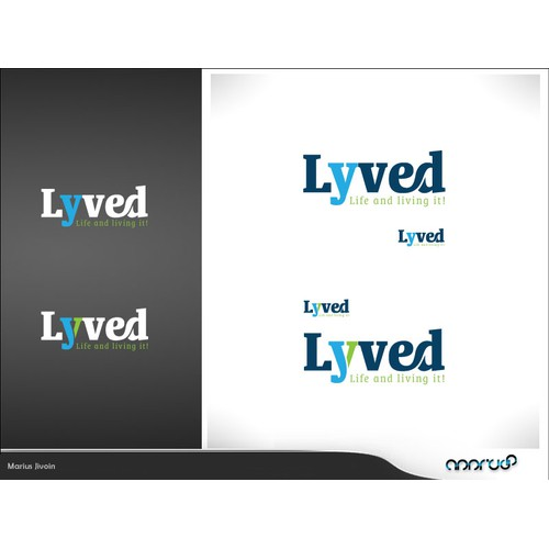 Logo design for popular blog Lyved