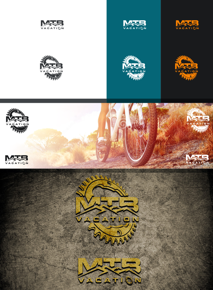 Create an exciting mountain bike illustration for MTB Vacation travel website