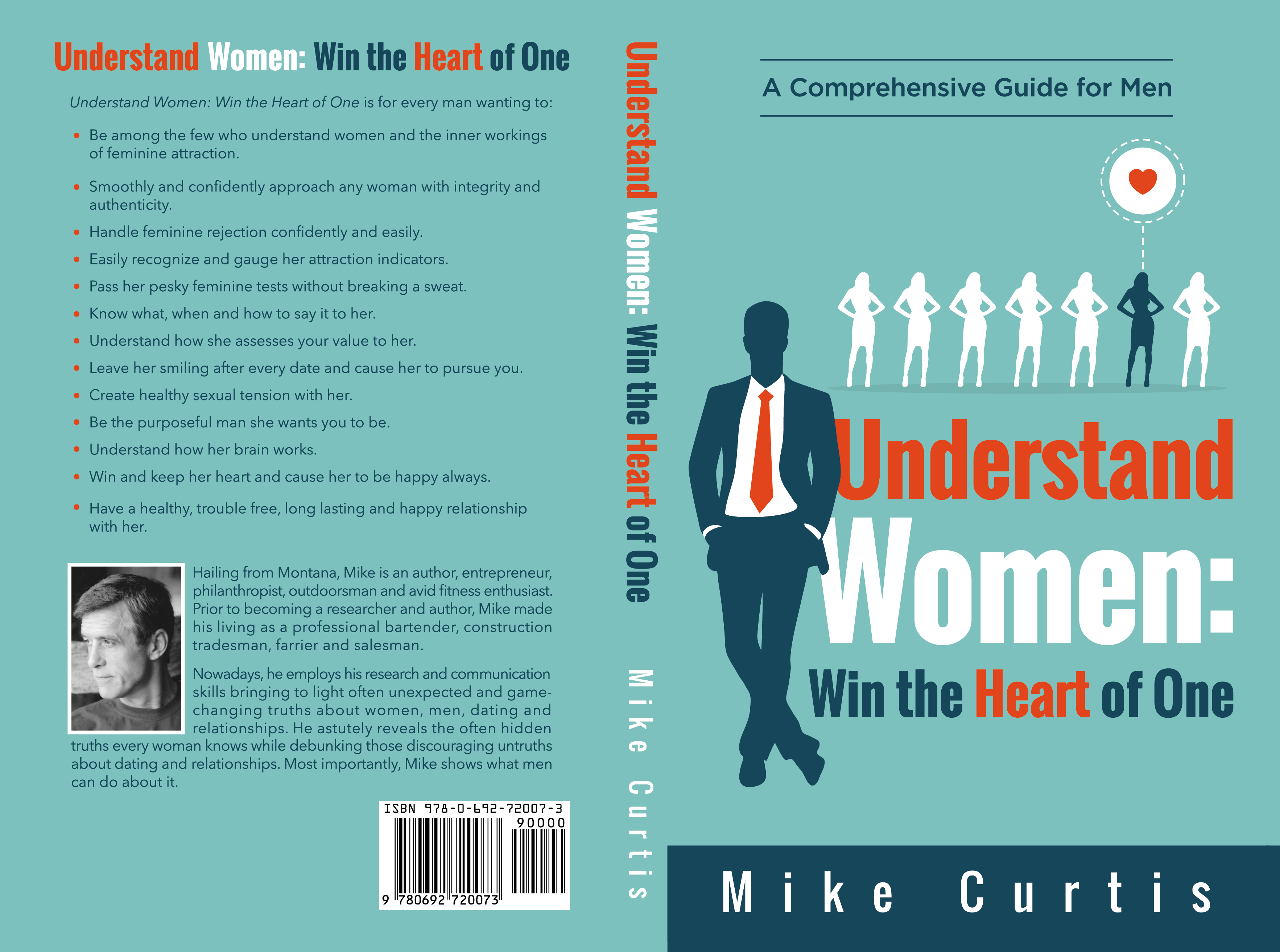 Design a book cover to help men succeed with women and to help women understand themselves