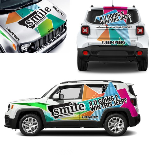 Smile Car Wrap design 2