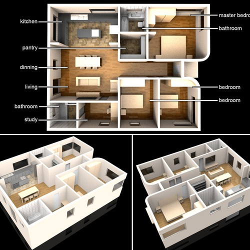 3d rendering of a house