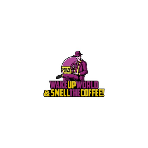 Logo concept for Wake Up World and Smell The Coffee