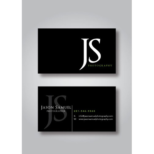 Business card design for my Photography business