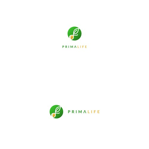 Organic icon logo for herbal healthcare