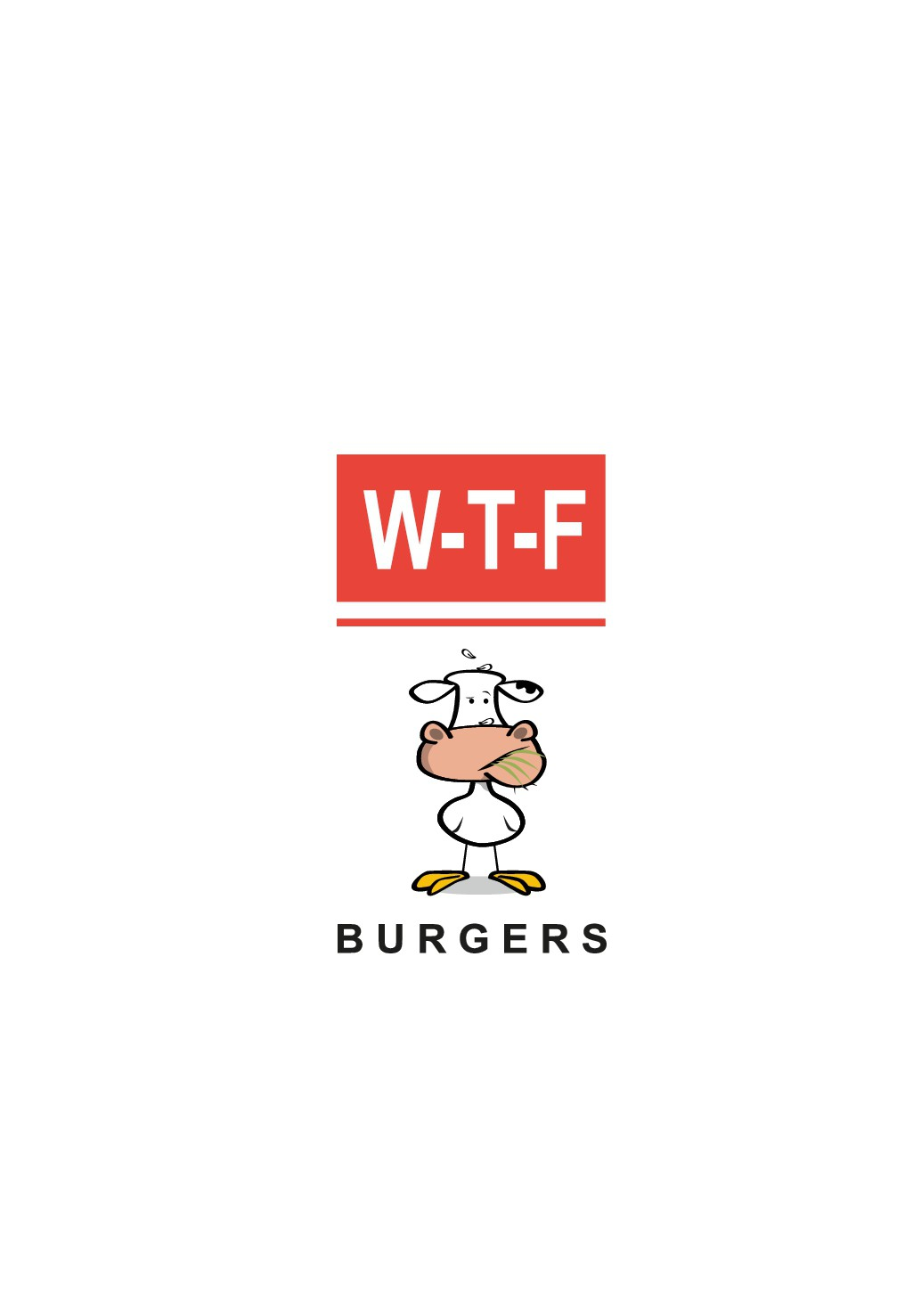 WTF Burger!  Looking for a fun design that incorporates a chicken and a cow!