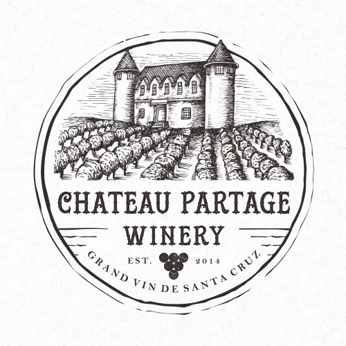 Logo design for Chateau Partage Winery