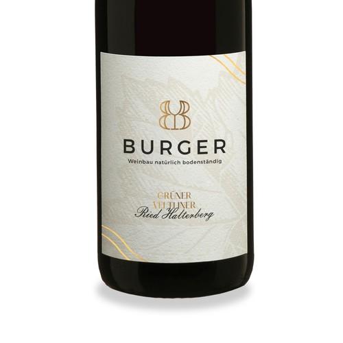 Re Design Label of BurGer Wine