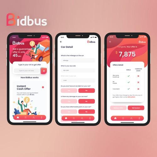 Bidbus App Concept