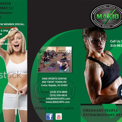 New brochure design wanted for MAX10 Bodyshaping