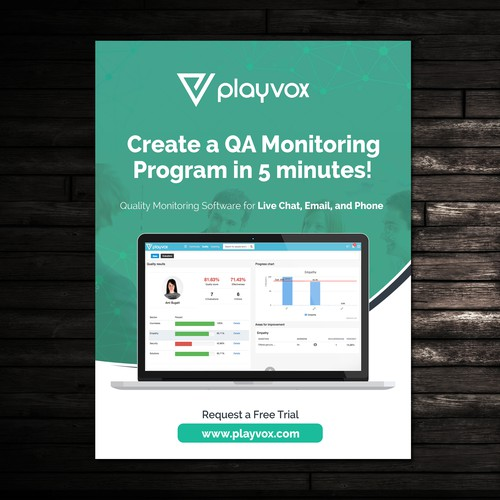 Design a Magazine Ad for PlayVox