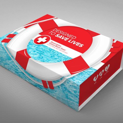 Towel Packaging  Box Design