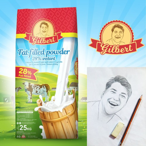 Traditional package design concept for milk powder