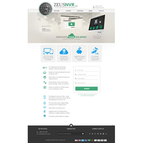Awesome landing page design wanted