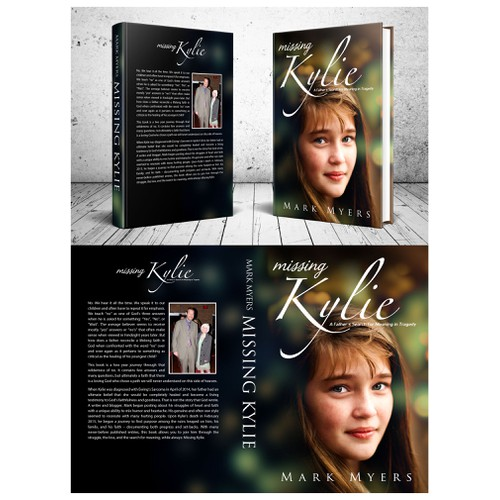 Missing Kylie Book Cover concept for Mark Myers