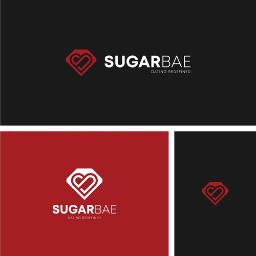 Logo concept for Sugarbae dating app
