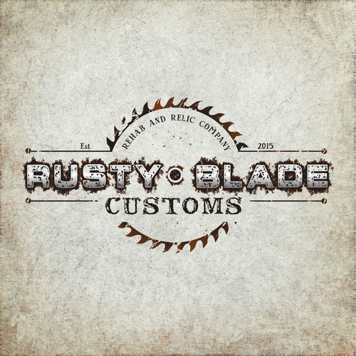 Logo and hosted website for rusty blade