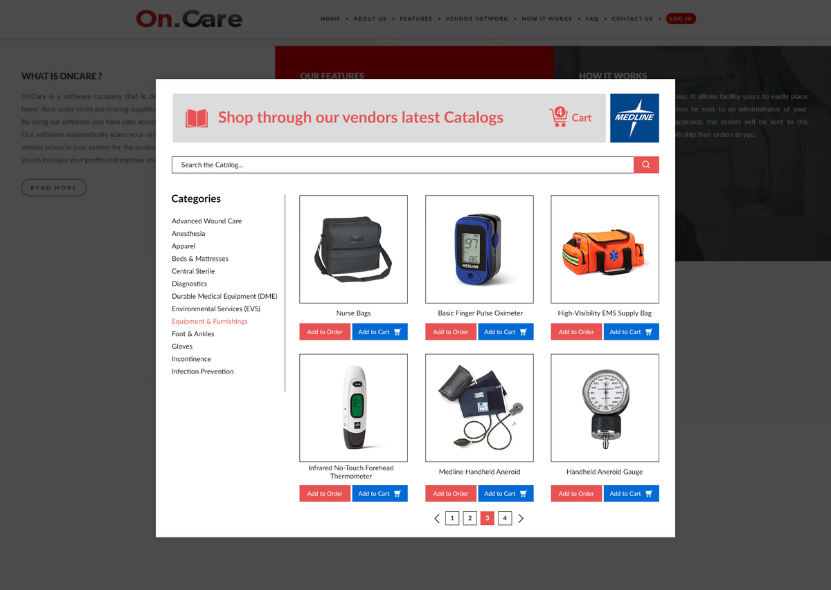 Shopping Cart Icon and Page