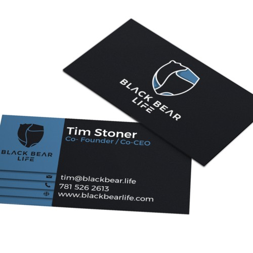 Logo and business card for BLACK BEAR LIFE