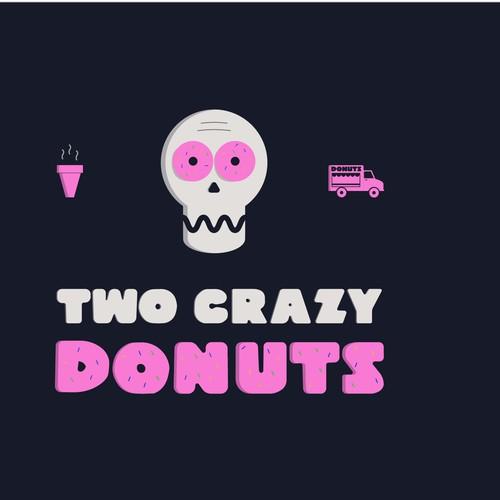 Logo concept for donut truck