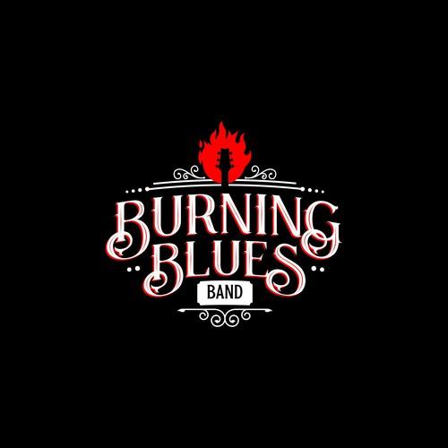 Logo for blues band