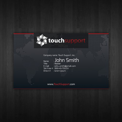 Create the next stationery for Touch Support, Inc.