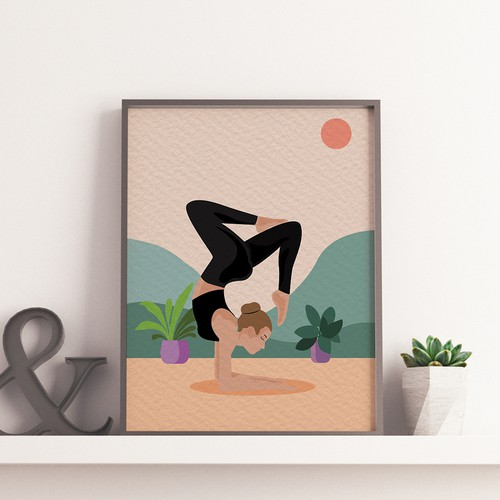 Yoga Illustration Poster
