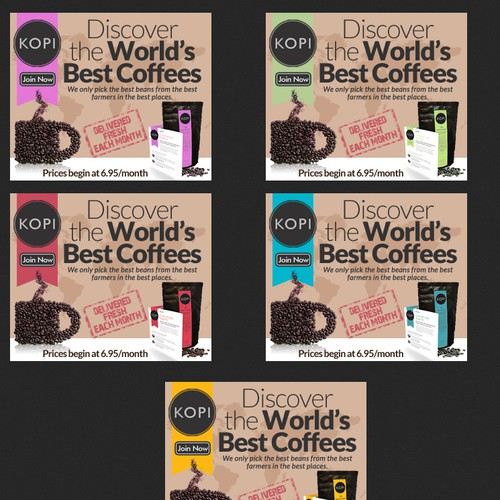Display Ads for Kopi Coffee Explorer Club