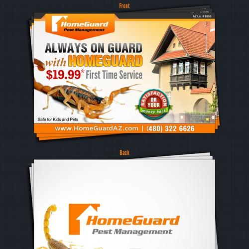 HomeGuard Pest Management needs a new postcard or flyer