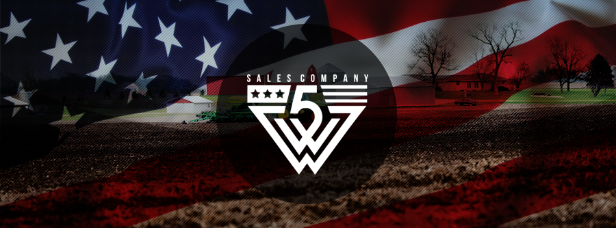 Create a patriotic logo for our agricultural equipment company 5W Sales Company