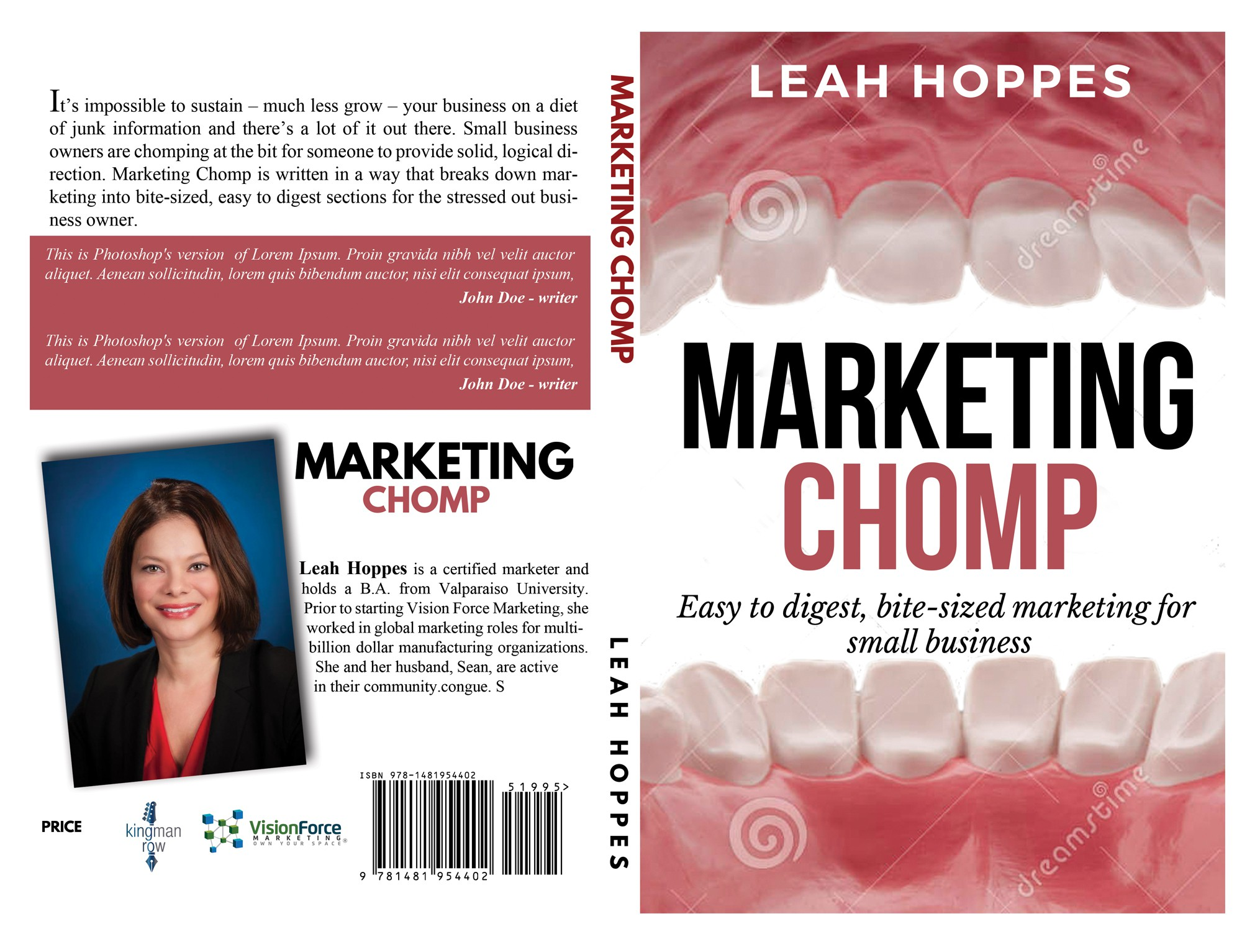 Create a fun, compelling, and engaging title for this marketing book titled: Marketing Chomp