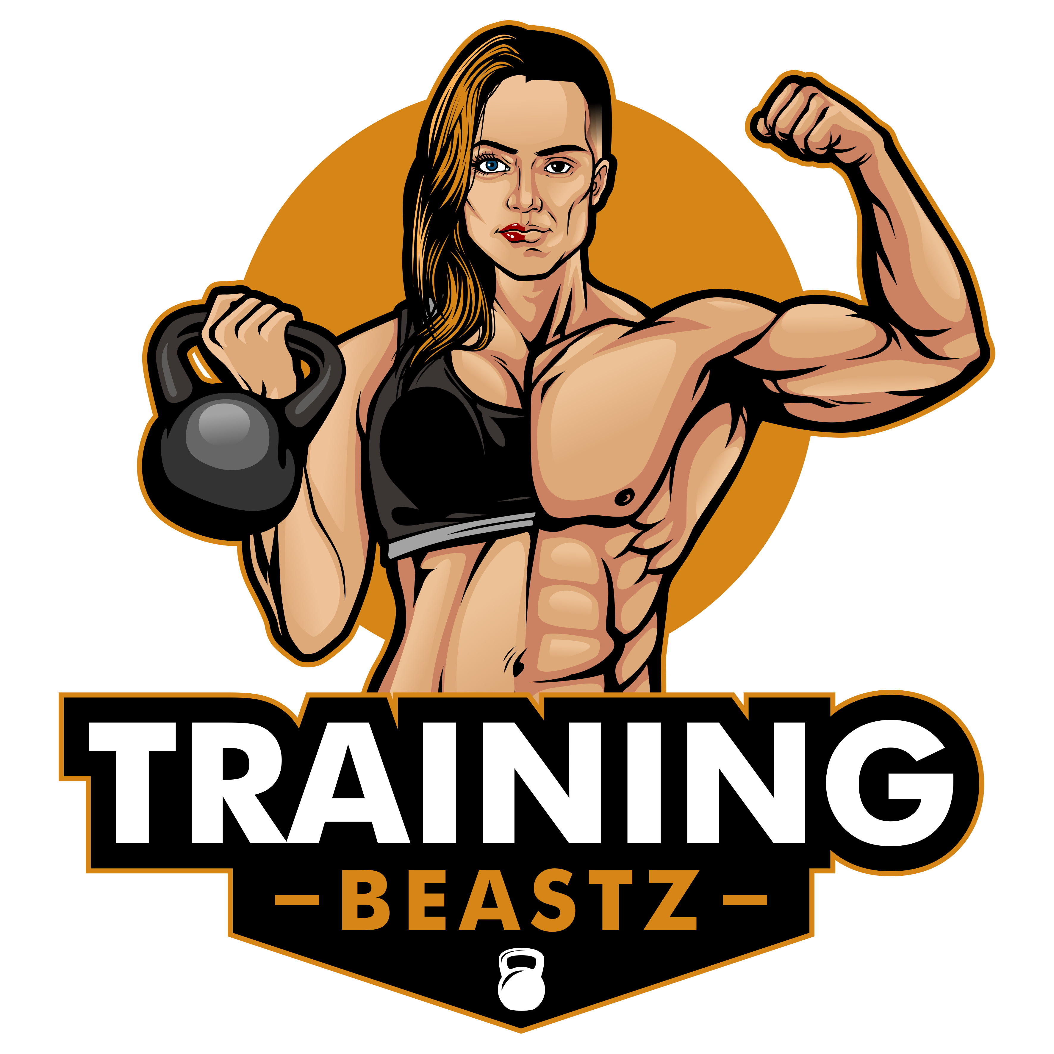 Two faced/body men woman badass sport logo