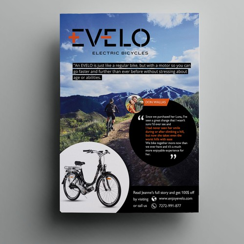 Poster Ad for EVELO