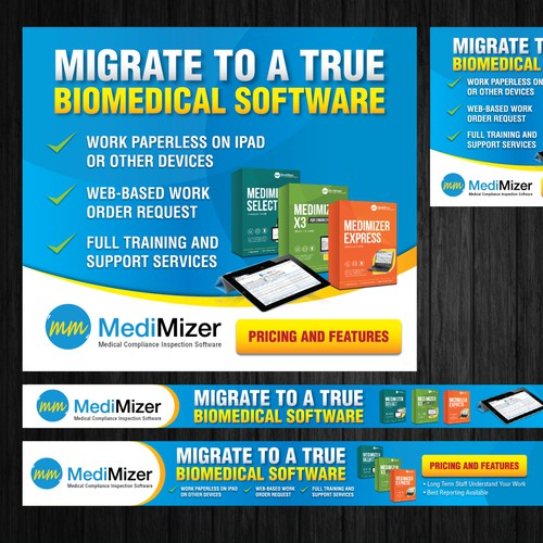 Web banners for software company.