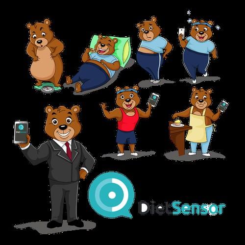Bear Character Design for Diet Sensor