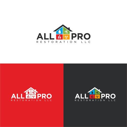 All Pro Restoration LLC Logo Design
