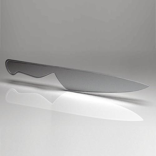 3d knife from 2d illustration