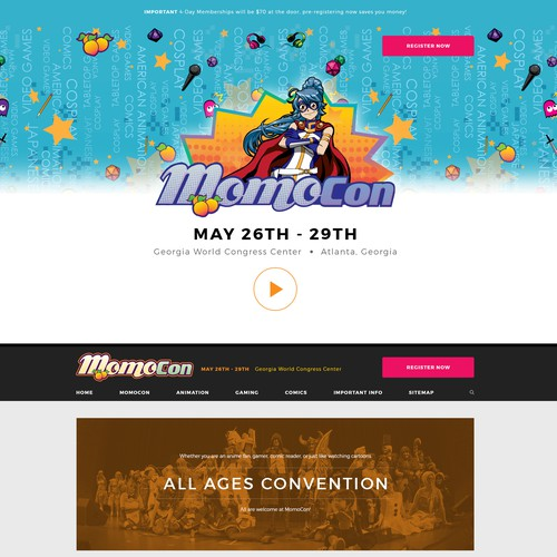 Anime Fan Convention Website
